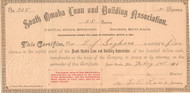 South Omaha Loan and Building Association stock certificate 1896 (Nebraska)