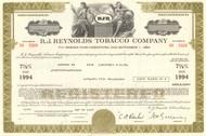 R. J. Reynolds Tobacco Company bond certificate 1977 (Illinois)