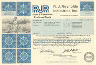 R. J. Reynolds Industries Inc. stock certificate 1980's (tobacco)