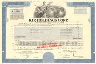 RJR Holdings Corp. bond certificate 1990 (Reynolds-Nabisco)