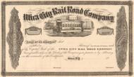 Utica City Rail Road Company stock certificate 1862 (New York)