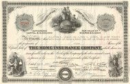 Home Insurance Company stock certificate 1946 (New York)