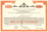 Atchison, Topeka, and Santa Fe Railway bond 1973