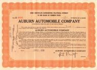 Auburn Automobile Company stock certificate 1930