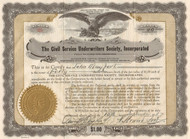 Civil Service Underwriters Society Incorporated stock certificate 1937 (Maryland)