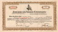 American Gyro Company stock certificate 1934
