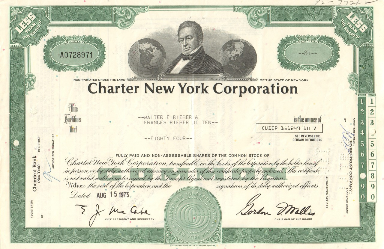 Use corporate charter in a sentence