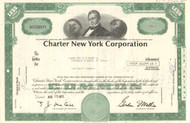 Charter New York Corporation stock certificate 1973 (banking)