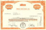 ABKCO Industries stock certificate 1977 (managed The Beatles)