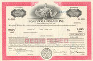Honeywell Finance Inc. bond certificate 1970's