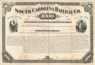 South Carolina Railway Co. bond certificate 1881