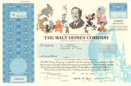Walt Disney Company stock certificate 2003