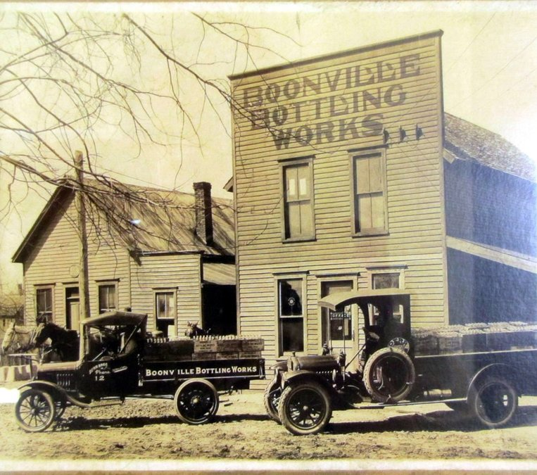 The original Derr family business, Boonville Bottling Works, on 5th Street in Boonville, Indiana.