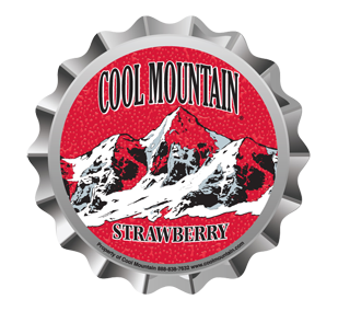 Cool Mountain Strawberry Soda Bottle Cap