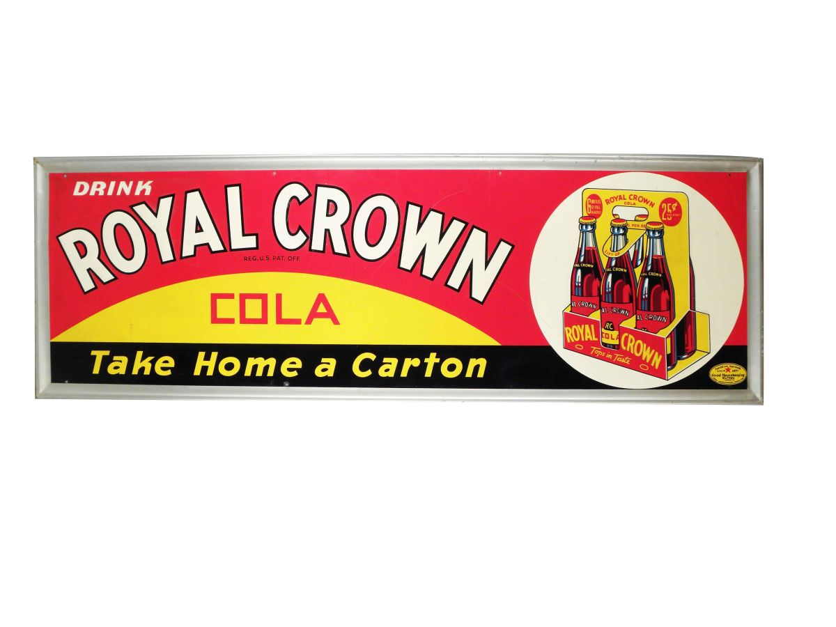 Vintage Royal Crown Cola Tin Sign