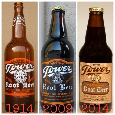 Tower Root Beer Bottles Through the Ages