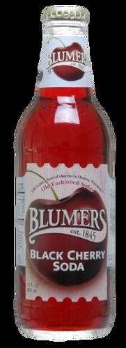 Blumers Black Cherry Soda in 12 oz. glass bottles for Sale