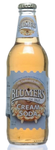 Blumers Cream Soda in 12 oz. glass bottles for Sale