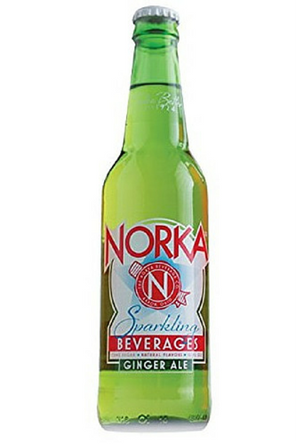 NORKA Ginger Ale in 12 oz glass bottles from SummitCitySoda.com