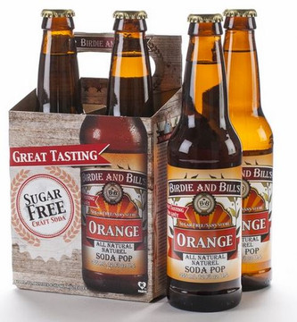 Birdie and Bill's Orange All Natural Soda Pop in 12 oz glass bottles at SummitCitySoda.com