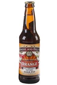 Birdie and Bill's Orange All Natural Soda Pop in 12 oz glass bottles at SummitCitySoda.com