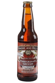 Birdie and Bill's Pomegranate - All Natural Soda Pop in 12 oz glass bottles at SummitCitySoda.com