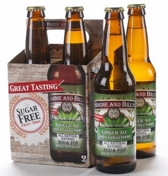 Birdie and Bill's Ginger Ale  - All Natural Soda Pop in 12 oz glass bottles at SummitCitySoda.com