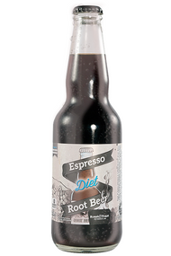 Northwoods Diet Espresso Root Beer in 11.5 oz glass bottles for Sale at SummitCitySoda.com