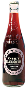 Boylan Diet Black Cherry Soda in 12 oz. glass bottles for Sale