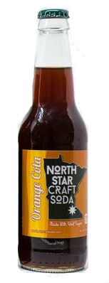 North Star Craft Soda Orange Cola in 12 oz glass bottles for Sale at SummitCitySoda.com