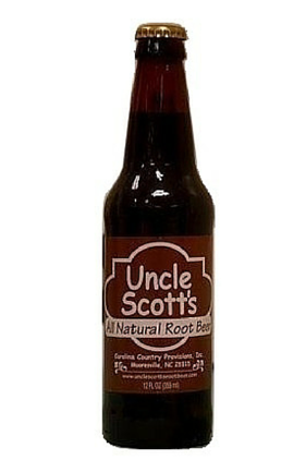 Uncle Scott's All Natural Root Beer in 12 oz glass bottles sold at SummmitCitySoda.com