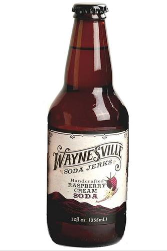 Waynesville Soda Jerks Handcrafted Raspberry Cream Soda in 12 oz glass bottles at SummitCitySoda.com
