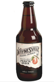 Waynesville Soda Jerks Handcrafted Peach Soda in 12 oz glass bottles at SummitCitySoda.com