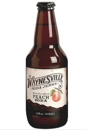 Waynesville Soda Jerks Handcrafted Peach Soda in 12 oz glass bottles at SummitCitySoda.com