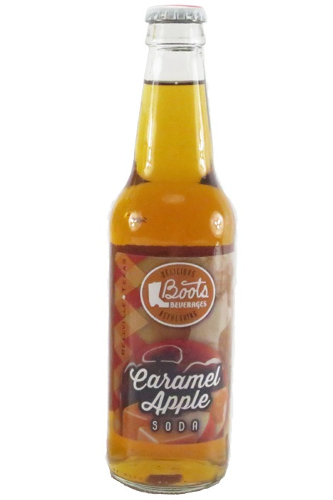 Boots Beverages Caramel Apple Soda in 12 oz. glass bottles for Sale