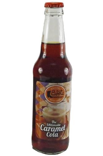 Boots Beverages Ultimate Caramel Cola in 12 oz. glass bottles