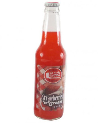 Boots Beverages Strawberries 'n Cream Soda in 12 oz glass bottles