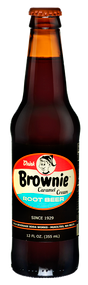 Brownie Caramel Root Beer in 12 oz. glass bottles for Sale