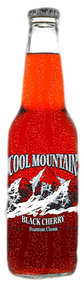 Cool Mountain Black Cherry Soda in 12 oz. glass bottles for Sale