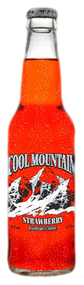 Cool Mountain Strawberry Soda in 12 oz. glass bottles for Sale