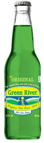 Green River Soda in 12 oz. glass bottles for Sale