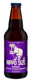 Hippo Huckleberry Soda in 12 oz. glass bottles for Sale