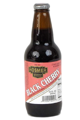 Hosmer Mountain Black Cherry Soda in 12 oz. glass bottles for Sale at SummitCitySoda.com