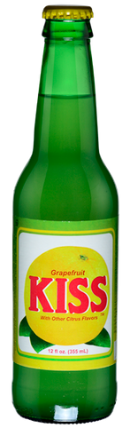 Kiss Grapefruit Soda in 12 oz. glass bottles for Sale