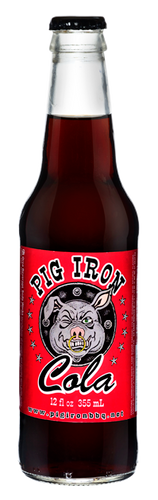 Pig Iron Cola in 12 oz. glass bottles for Sale