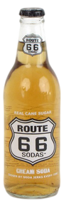 Route 66 Cream Soda in 12 oz. glass bottles for Sale