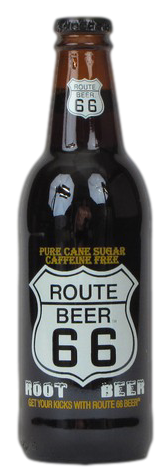 Route 66 Root Beer in 12 oz. glass bottles for Sale