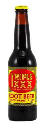 Triple XXX Root Beer in 12 oz. glass bottles for Sale