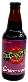 Zuberfizz Grape Soda in 12 oz. glass bottles for Sale