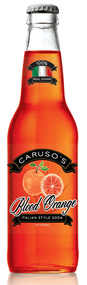 Caruso's Legacy Blood Orange Italian-Style Soda in 12 oz. glass bottles for Sale